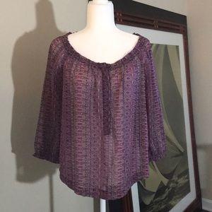 American Eagle Outfitters Purple Chiffon Blouse
